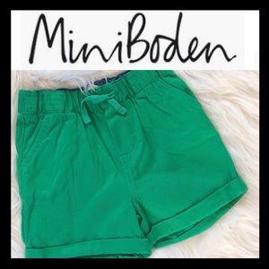 NWOT Mini Boden Twill Shorts